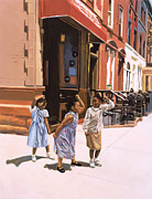 New York Artist Painting Framed Prints - Harlem Jig Framed Print by Colin Bootman