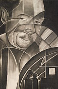 Fine Art Abstract Drawings Drawings Originals - Harlem of the South II Ex Colored Man by Adrian Pickett
