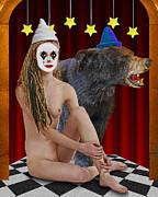 Keith Dillon - Harlequin Girl With Bear