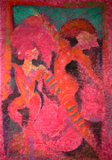 Form Pastels Metal Prints - Harlequins  Like Children Who Never Dream Of Night Metal Print by Josie Taglienti