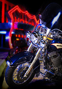 Gary Warnimont Metal Prints - Harley at The Route 66 Casino Metal Print by Gary Warnimont