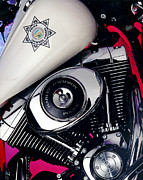 Police Art Posters - Harley Cop 2 Poster by Gary Gingrich Galleries