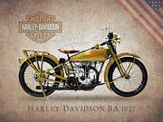 Harley Davidson Photos - Harley-Davidson 1927 by Mark Rogan