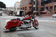Harley Davidson Photos - Harley Davidson At Monterey Cannery Row California 5D24765 by Wingsdomain Art and Photography