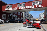 Harley Davidson Photos - Harley Davidson At Monterey Cannery Row California 5D25024 by Wingsdomain Art and Photography