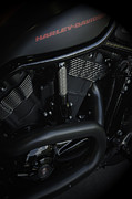 Vineesh Edakkara Prints - Harley Davidson Black Print by Vineesh Edakkara