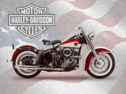 Duo Posters - Harley-Davidson Duo-Glide Poster by Mark Rogan