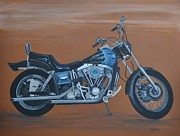 Harley Davidson Dyna Print by Sally Rice