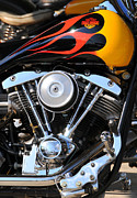Twin Flame Art - Harley Davidson Flame Job by E S R Photography