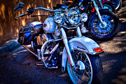 Classic Cycle Prints - Harley Davidson - Heritage Softail Print by David Patterson