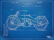 Nikki Marie Smith - Harley-Davidson Motorcycle 1924 Patent Artwork