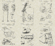 Technical Art Drawings Prints - Harley-Davidson Motorcycle Patent Collection Print by PatentsAsArt