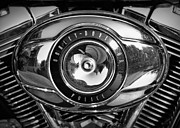Cricket Hackmann Framed Prints - Harley-Davidson Police B and W Framed Print by Cricket Hackmann