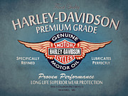 Harley Davidson Photo Metal Prints - Harley Davidson Premium Grade Metal Print by Mark Rogan