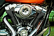 Cam Posters - Harley-Davidson Road Glide Touring Bike Poster by Mary Machare