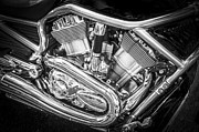 Harley Davidson Photos - Harley Davidson Screamin Eagle BW by Rich Franco