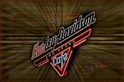 Billboard Signs Prints - Harley Davidson Print by Susan Candelario