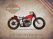 Motor Metal Prints - Harley Davidson WR Racer 1946 Metal Print by Mark Rogan
