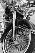 Automobile Pyrography Framed Prints - Harley Deluxe  Framed Print by Eyzen Medina