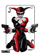 Scott Parker Metal Prints - Harley Quinn 1 Metal Print by Scott Parker