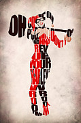 Typographic Digital Art - Harley Quinn by Ayse T Werner