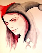 Hoodie Painting Framed Prints - Harley Quinn Framed Print by Lauren Anne