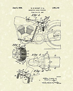 Seat Drawings - Harley Saddle 1934 Patent Art by Prior Art Design