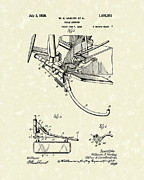 Bike Drawings Prints - Harley Support 1928 Patent Art Print by Prior Art Design