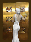 Harlow Digital Art Prints - Harlow Art Deco Doors Print by Maureen Tillman