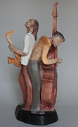 Bronze Sculptures - Harmonizing in D by Wayne Headley