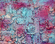 Silver Turquoise Mixed Media - Harmony by Julia Apostolova