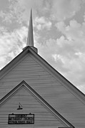 Southern Alabama Framed Prints - Harmony Methodist Church Black and White Framed Print by Bruce Gourley