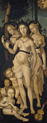 Boys And Girls Posters - Harmony or The Three Graces Poster by Hans Baldung
