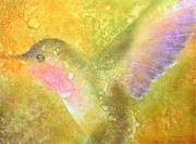 Hummingbird Painting Prints - Harmony Print by Robert Hooper