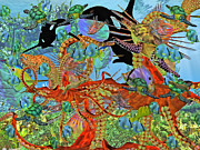 Fishes Digital Art - Harmony Under the Sea II by East Coast Barrier Islands Betsy A Cutler