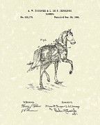 Single Drawings Posters - Harness 1885 Patent Art Poster by Prior Art Design