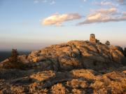 Great Plains Photos - Harney Peak at Dusk by Daniel  Taylor