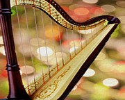 Folk Art Photos - Harp by Cheryl Young