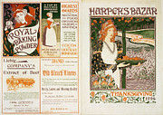 Orange Art Framed Prints - Harpers Bazar Thanksgiving Framed Print by Nomad Art And  Design