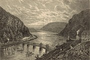 Appleton Digital Art Prints - Harpers Ferry Print by Antique Engravings