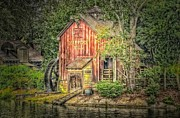 Wood Mill Photos - Harpers Mill by Arnie Goldstein