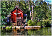 Gone Fishing Photos - Harpers Mill - Digital Painting  by Lee Dos Santos