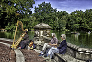 Rowers Photos - Harpist - Central Park by Madeline Ellis