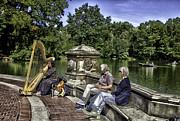 Harpist - Central Park Print by Madeline Ellis