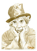 Marx Paintings - Harpo Marx by David Iglesias