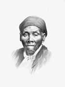 Slave Drawings - Harriet Tubman by Gordon Van Dusen