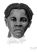 African American Drawings Originals - Harriet Tubman by Marvin Lee