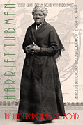 Wingsdomain Art and Photography - Harriet Tubman The Underground Railroad 20140210v2 with text sepia