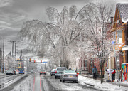 Winter Storm Art - Harrisburg on Ice by Lori Deiter
