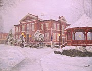 Coldest Prints - Harrison Courthouse Print by Ron Aucutt